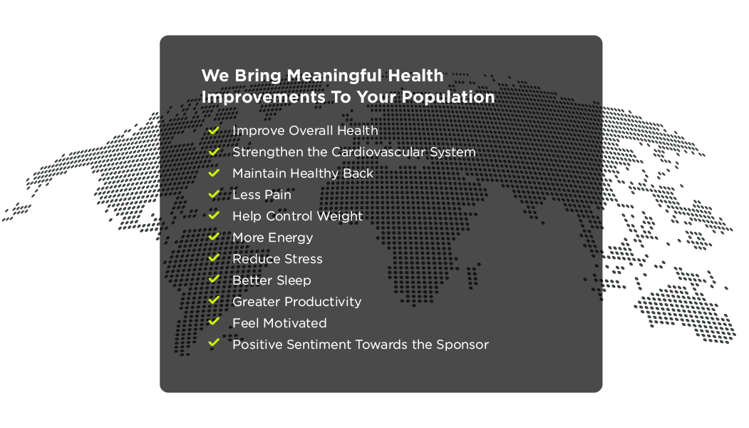 We Bring Meaningful Health Improvements To Your Population